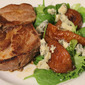 Pork with Caramalised Pear and Blue Cheese