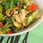 "Quick Chicken ""Stir Fry"" with scallions and ginger"