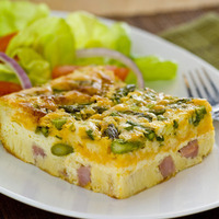 Ham and Asparagus Pie
