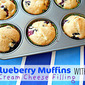 Blueberry Muffins with Cream Cheese Filling {Crazy Cooking Challenge}