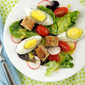 Breakfast Salad with Toast Croutons and O J Vinaigrette (Oh Yes! and Leftover Hard Boiled Eggs)