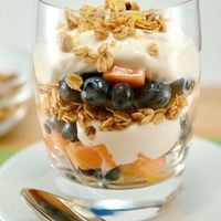 Berry-Papaya Power Parfaits with Maple-Cinnamon Granola