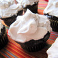 Chocolate Cupcakes with Vanilla Whipped Cream Frosting