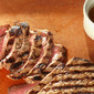 Pan-Grilled Flank Steak with Soy-Mustard Sauce from Cooking Light Magazine, April 2012