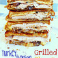 Turkey and Onion Grilled Cheese for National Grilled Cheese Month!