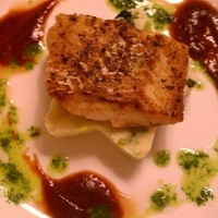 Pan Seared Cod with Colcannon, Stout Reduction, and Cress Oil