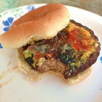 Curt's Grilled Black and Blue Bacon Burger