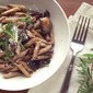 Penne with Pancetta, Sage and Mushrooms