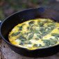 Spinach, Onion and Goat Cheese Frittata