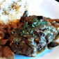 Salisbury Steak with Mushroom Gravy, Lightened Up