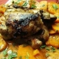 Jamaican-Spiced Chicken Thighs and Rum Sauced Yams