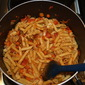 Pasta with Sauteed Vegetables, Olive Oil & Tomato Sauce