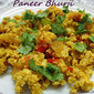 Paneer Bhurji : T&T : Sailu's Food