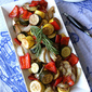Balsamic Roasted Vegetable Recipe with Rosemary, Artichokes & Zucchini