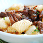 Gnocchi Party: Braised Beef Short Ribs Adobo on Potato Gnocchi