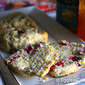 Vegan Cranberry Scone Recipe