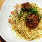 Onion cream pasta with foie gras