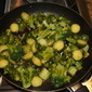 Brussel Sprouts Sauteed in Garlic & Olive Oil