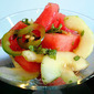 Spicy-Minty Watermelon Cucumber Salad