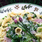 Spring Pasta with Prosciutto, Lettuce and Peas