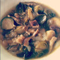{Vegan} Brussels Sprout, Black Eyed Pea and Shiitake Mushroom Soup
