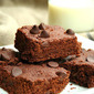 Chocolate Chip Flax Seed Brownies (Healthy, Gluten-Free Snacks for Kids)