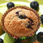 Pear and Blueberry Muffins with Ginger and Cardamom Spices