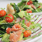 Garlic Prawns, Smoked Salmon and Avocado Salad
