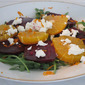 #208 Roasted Beets, Orange and Goat Cheese Salad