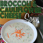 White Broccoli & Cauliflower Cheese Soup