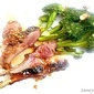 Marinated and Grilled Rack of Lamb with Broccoli Vignetted; a Guest Post