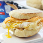 Egg Cheese Muffin - Breakfast Sandwich with Homemade English Muffins and Kraft Singles