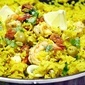 Quick Saffron and Seafood Rice with Chorizo In a way, this is...