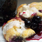 Blueberry Cream Biscuits