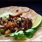 What's for lunch? Maitake Mushroom and Fresh Garbanzo Bean Tacos