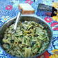 Rigatoni with Diced Zucchini, Mushrooms, and Anchovy