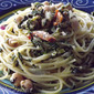 Spaghetti with Chickpeas and Feta Cheese