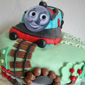 Thomas train chocolate Hazelnut cake