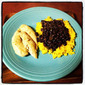 Mojo Chicken, Cuban Black Beans and Yellow Rice