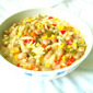 Mixed Veggies,Orzo & Peanut Soup