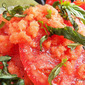 Tomato Salad with Tomato Granita #Sunday Supper