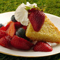 Cornmeal Almond Cake With Berries And Cream