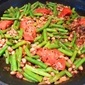 Stir-fried curry green beans with black eyed peas