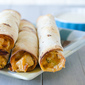 Baked Buffalo Ranch Chicken Taquitos with Blue Cheese Dipping Sauce