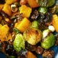 In the Spirit - Caramelized Brussels Sprouts with Butternut Squash & Hazelnuts