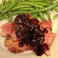 Pan Roasted Duck with Blueberry Sauce