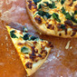 Three Cheese White Pizza with Spinach from Cooking Light Magazine, June 2012