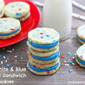 Red, White & Blue Funfetti Sandwich Cookies