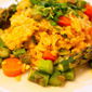 "Indian Spiced Faux-Fried Rice, or ""Khichdi"""