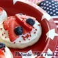 Red, White & Blue Mini Fruit Pizza's {4th of July Dessert}